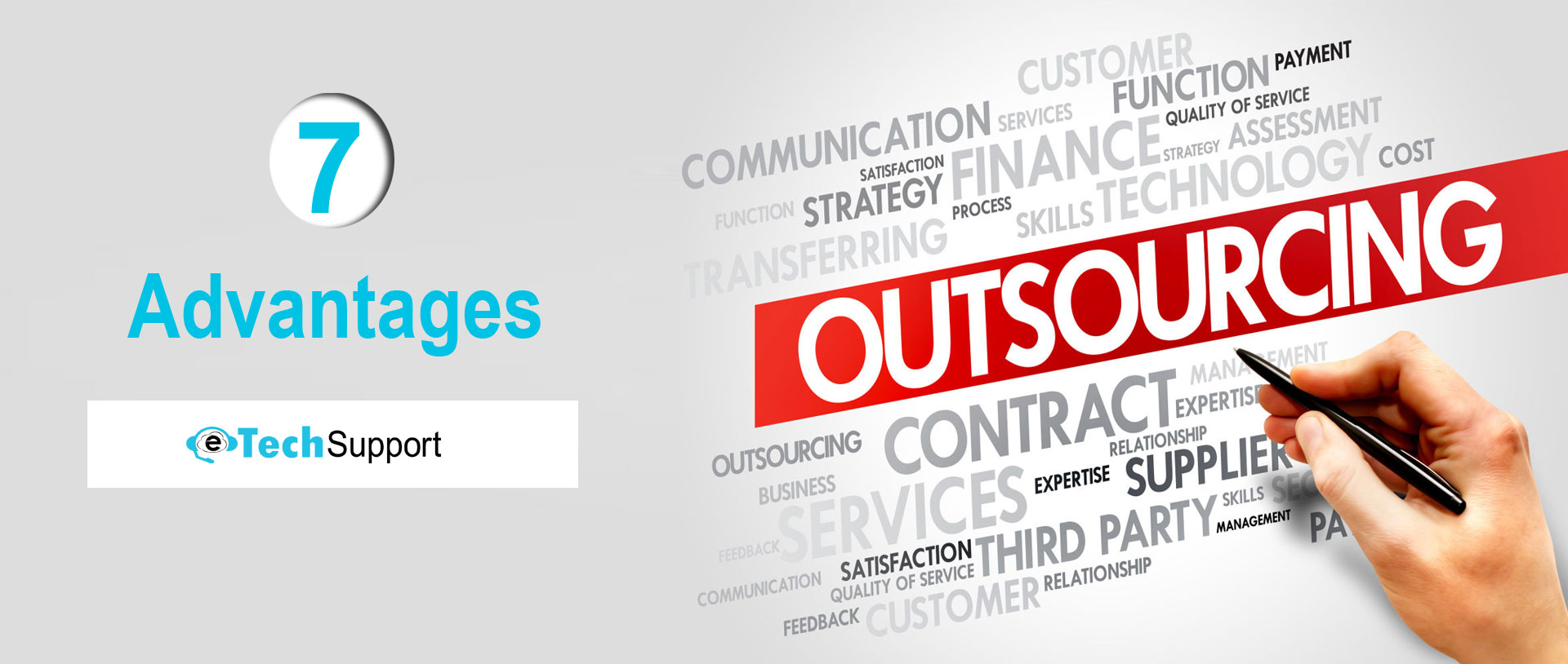 What are the 7 advantages of Outsourcing?